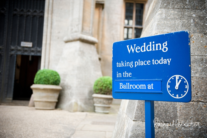 Professional photograph of the front of Belvoir Castle on a wedding day