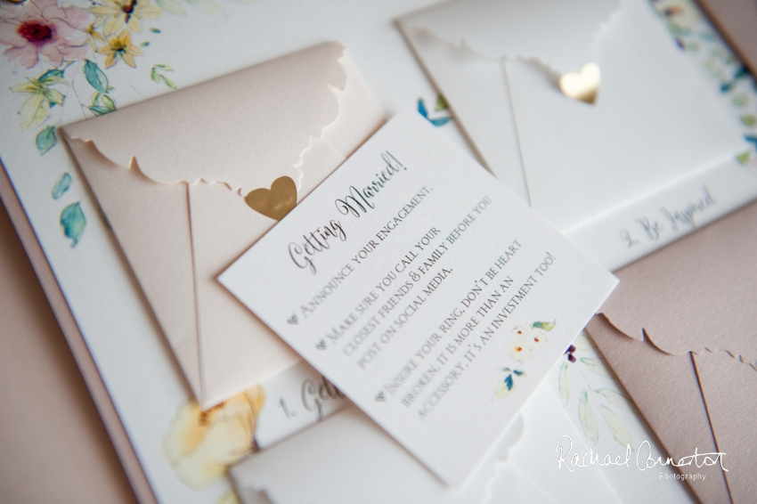 Professional colour photograph of Hummingbird cards' wedding stationery creative business shoot by Rachael Connerton Photography