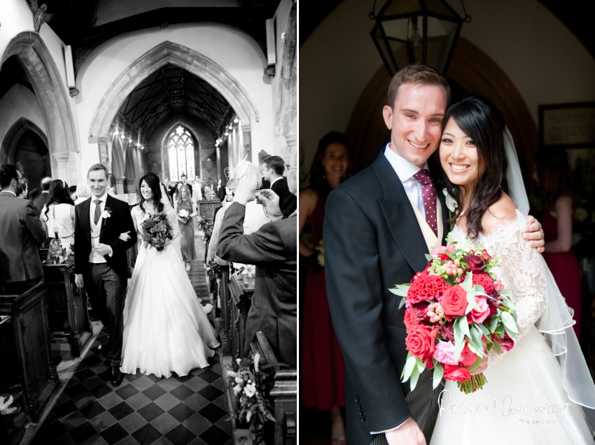 Professional colour photograph of Catherine and Henry's summer wedding at Hinwick Hall by Rachael Connerton Photography