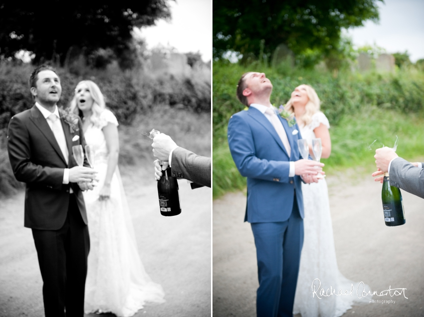 Professional colour photograph of Holly and Chris' Cornwall beach wedding at Palhawn Fort by Rachael Connerton Photography