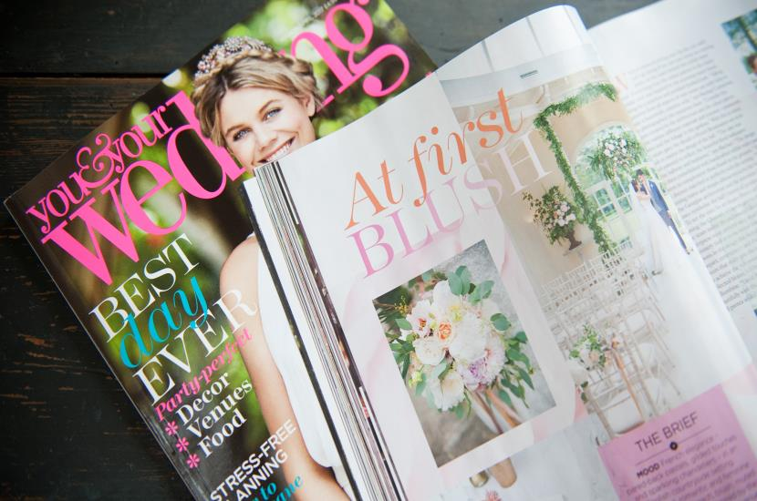 Professional photography of You and Your Wedding magazine