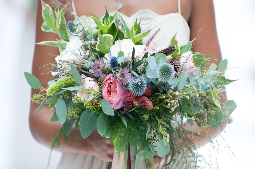 Professional photograph of wedding bouquet from Save the Date Wedding Event by Rachael Connerton Photography